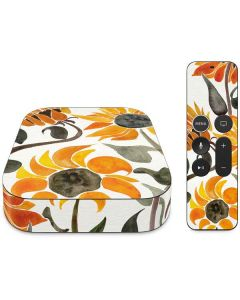 Yellow Sunflower Apple TV Skin