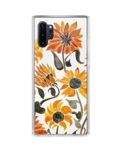 Yellow Sunflower Galaxy Note 10 Plus Clear Case