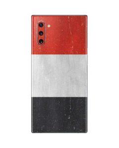 Yemen Flag Distressed Galaxy Note 10 Skin