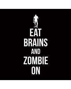Eat Brains and Zombie On Black Galaxy Book Keyboard Folio 12in Skin