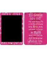 John 3:16 in Pink Apple iPad Skin