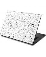 White Speckle Dell Chromebook Skin
