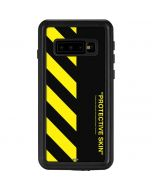 Black and Yellow Stripes Galaxy S10 Waterproof Case