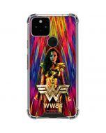 Wonder Woman Color Blast Google Pixel 5 Clear Case