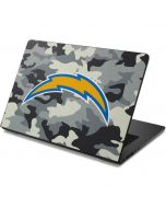 Los Angeles Chargers Camo Dell Chromebook Skin