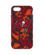Tampa Bay Buccaneers Tropical Print iPhone 8 Pro Case
