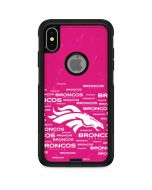 Denver Broncos Pink Blast Otterbox Commuter iPhone Skin