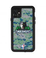 Minnesota Timberwolves Digi Camo iPhone 11 Waterproof Case