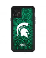 Michigan State Spartans Digital Pixels iPhone 11 Waterproof Case