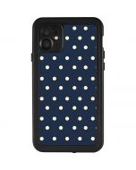 Blue and Cream Polka Dots iPhone 11 Waterproof Case