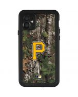 Pittsburgh Pirates Realtree Xtra Green Camo iPhone 11 Waterproof Case