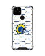 Los Angeles Rams White Logo Blast Google Pixel 5 Clear Case