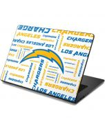 Los Angeles Chargers White Blast Dell Chromebook Skin