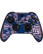 New York Giants Blast Xbox Series X Controller Skin