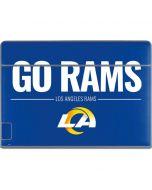 Los Angeles Rams Team Motto Galaxy Book Keyboard Folio 12in Skin
