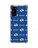 Los Angeles Rams Blitz Series Galaxy S20 FE Clear Case