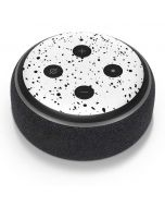 White Speckle Amazon Echo Dot Skin