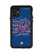 Atlanta Braves - Cap Logo Blast iPhone 11 Waterproof Case