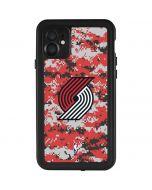 Portland Trail Blazers Digi Camo iPhone 11 Waterproof Case