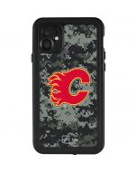 Calgary Flames Camo iPhone 11 Waterproof Case