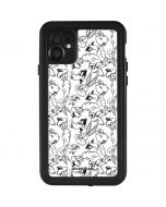 Looney Squad Black and White Grid iPhone 11 Waterproof Case