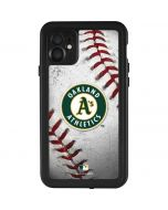 Oakland Athletics Game Ball iPhone 11 Waterproof Case