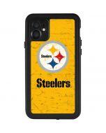 Pittsburgh Steelers - Alternate Distressed iPhone 11 Waterproof Case