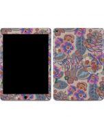Warm Taupe Floral Apple iPad Air Skin
