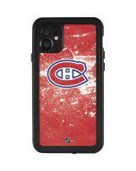 Montreal Canadiens Frozen iPhone 11 Waterproof Case