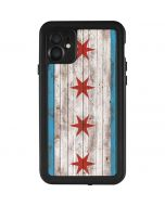 Chicago Flag Dark Wood iPhone 11 Waterproof Case