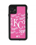 Kansas City Royals - Pink Cap Logo Blast iPhone 11 Waterproof Case