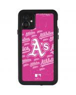 Oakland Athletics - Pink Cap Logo Blast iPhone 11 Waterproof Case