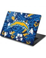 Los Angeles Chargers Tropical Print Dell Chromebook Skin