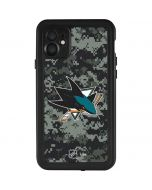 San Jose Sharks Camo iPhone 11 Waterproof Case