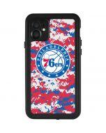 Philadelphia 76ers Red Digi Camo iPhone 11 Waterproof Case