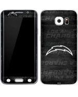 Los Angeles Chargers Black & White Galaxy S6 Edge Skin
