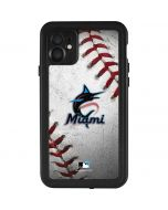 Miami Marlins Game Ball iPhone 11 Waterproof Case