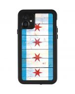 Chicago Flag Light Wood iPhone 11 Waterproof Case