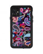 Black Paisley iPhone 11 Waterproof Case