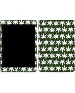 Marijuana Leaf White Pattern Apple iPad Air Skin