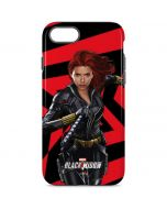 Black Widow Geometric iPhone 8 Pro Case