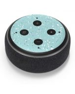 Mint Speckled Amazon Echo Dot Skin