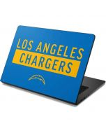 Los Angeles Chargers Blue Performance Series Dell Chromebook Skin