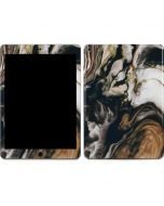 Copper and Black Marble Ink Apple iPad Air Skin
