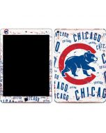 Chicago Cubs - White Cap Logo Blast Apple iPad Air Skin
