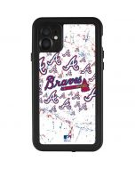 Atlanta Braves - White Primary Logo Blast iPhone 11 Waterproof Case