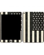 Black & White USA Flag Apple iPad Air Skin