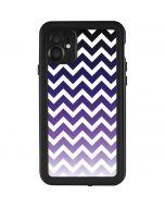 Chevron Purple Ombre iPhone 11 Waterproof Case