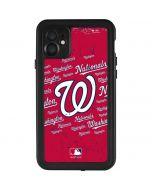 Washington Nationals - Cap Logo Blast iPhone 11 Waterproof Case