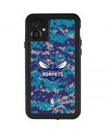 Charlotte Hornets Digi Camo iPhone 11 Waterproof Case